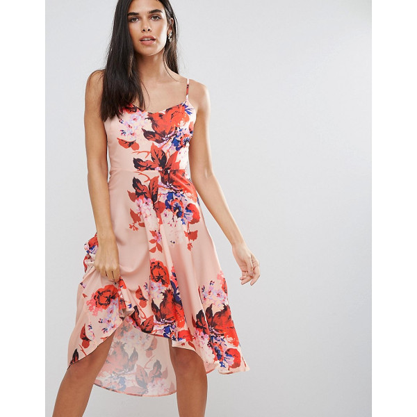 """HOPE AND IVY Hope & Ivy Floral Hi Lo Dress - """"""""Dress by Hope and Ivy, Printed woven fabric, V-neck, Slim..."""