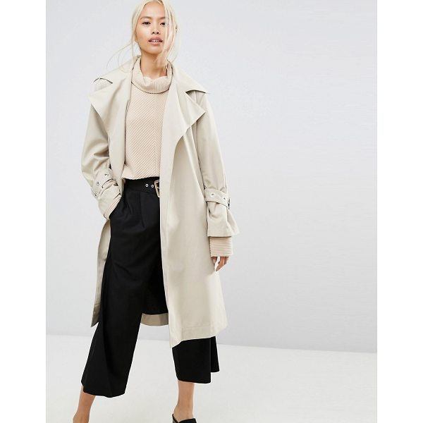 "HOUSE OF SUNNY House Of Sunny Longline Trench Coat With Yoke Back Detail - """"Coat by House of Sunny, Smooth woven fabric, Oversized..."