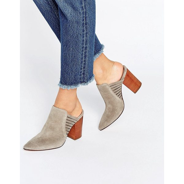 "HUDSON Audny Taupe Suede Heeled Mules - """"Heels by Hudson London, Suede upper, Slip-on style,..."