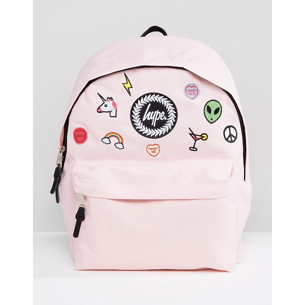 HYPE Pink Patches Backpack - Backpack by Hype, Canvas outer, Grab handle, Adjustable...