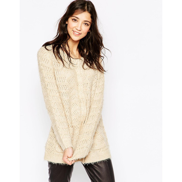 ICHI Longline supersoft cardigan - Top by Ichi Mid-weight, super soft touch knit Fluffy finish...