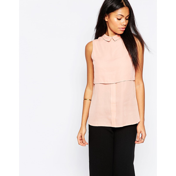 INFLUENCE Double layered shirt in crepe - Top by Influence, Pure cotton, Spread collar, Double layer...
