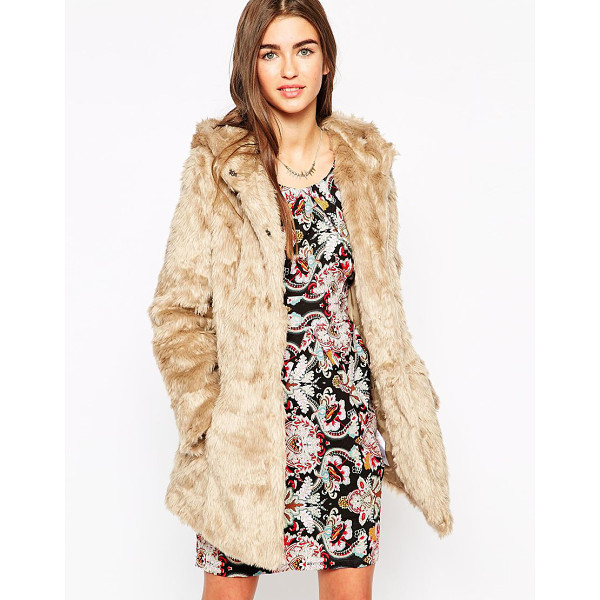 ISKA Faux fur coat with hood - Coat by Iska Super soft-touch faux fur Fully lined Hooded...