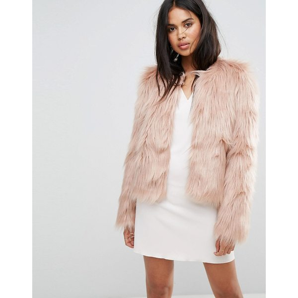 "IVYREVEL Fluffy Short Jacket - """"Jacket by Ivyrevel, Faux-fur fabric, Fully lined, Crew..."