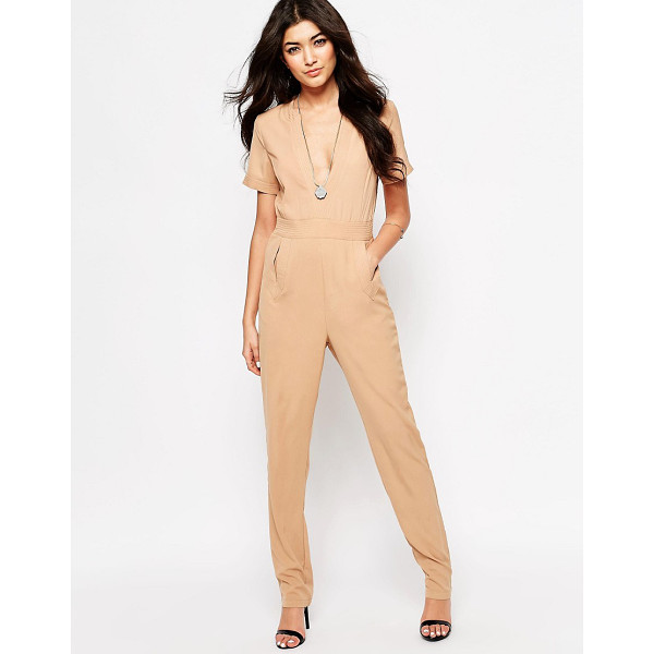 JAPONICA Japonica Jumpsuit with V-Neck - Jumpsuit by Japonica, Unlined woven fabric, V-neckline,...