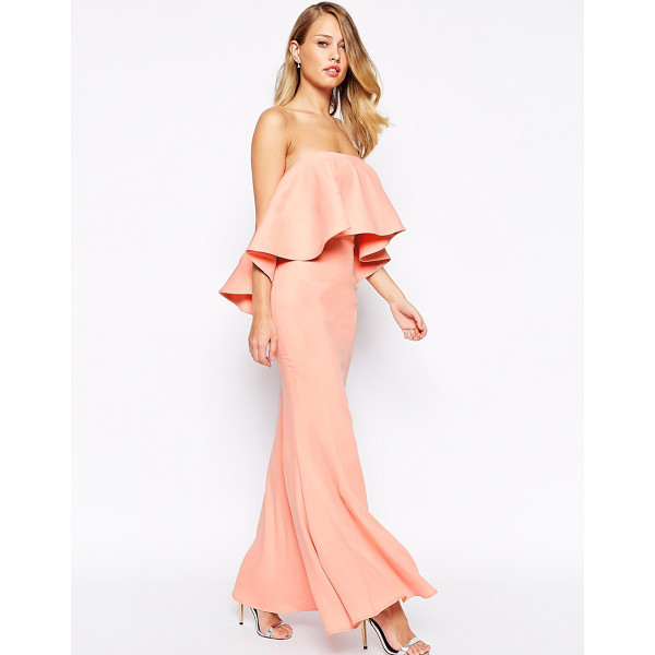 JARLO Lily bandeau maxi dress with exaggerated frill - Maxi dress by Jarlo Thick, soft fabric Fully lined Bandeau...