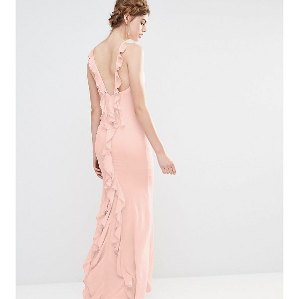 """JARLO Wedding Maxi Dress with Fishtail and Ruffles at Back - """"""""Maxi dress by Jarlo, Lightweight woven fabric, High..."""