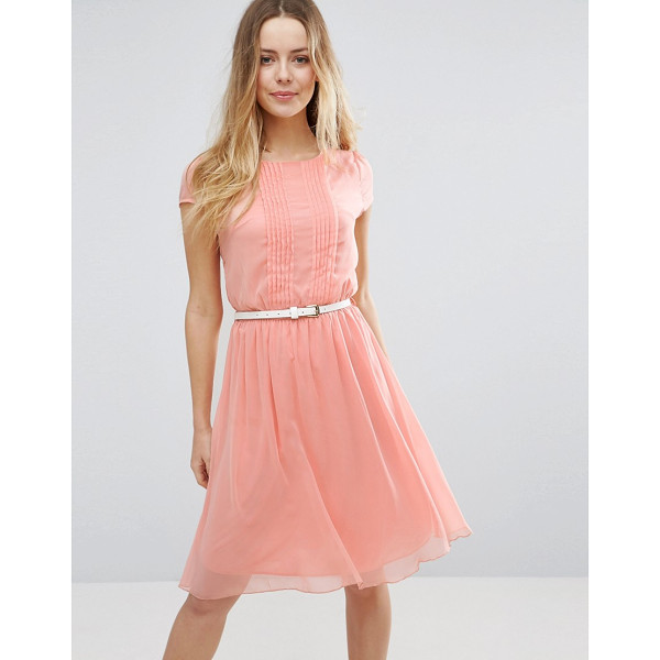 JASMINE Skater Dress With Pleat Detail Front - Dress by Jasmine, Lined woven fabric, Round neck, Pleated...