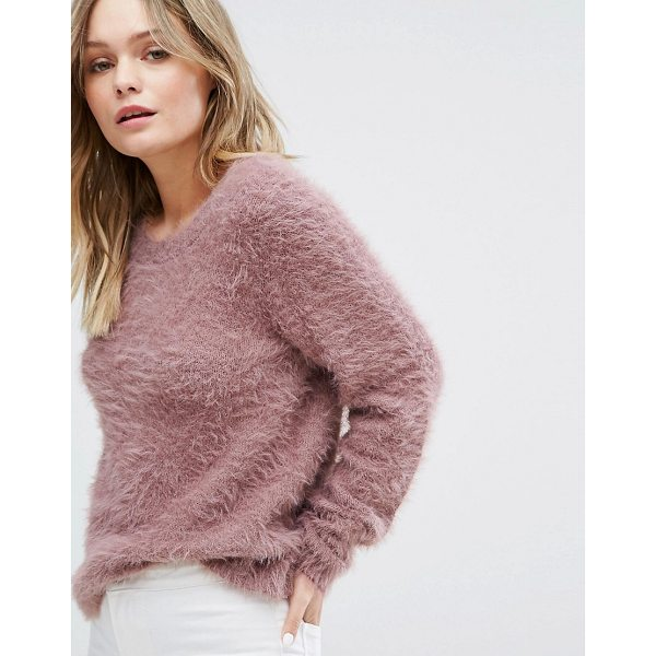 """JDY Fluffy Knitted Sweater - """"""""Sweater by JDY, Soft-touch knit, Fluffy finish, Round..."""