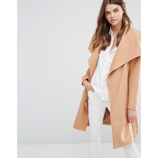 JDY J.D.Y Wrap Coat - Coat by JDY, Textured woven fabric, Fully lined, Oversized...