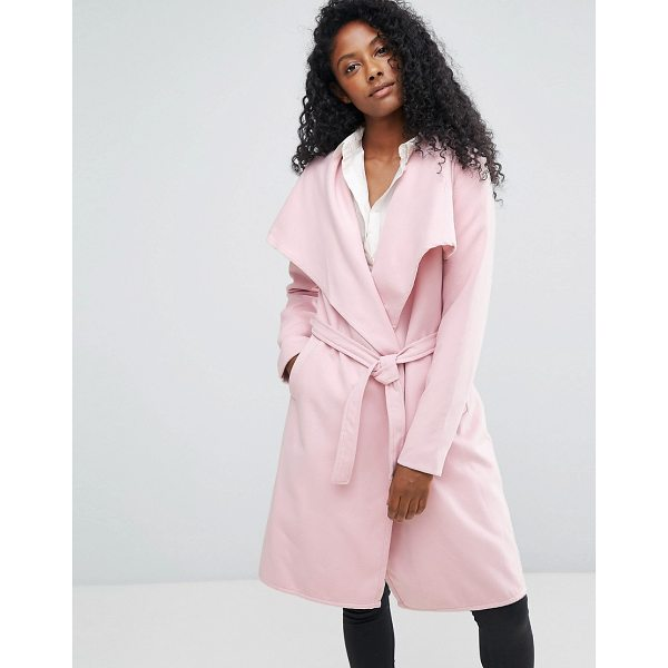 "JDY Long Trench Coat - """"Coat by JDY, Lightweight woven fabric, Waterfall front,..."