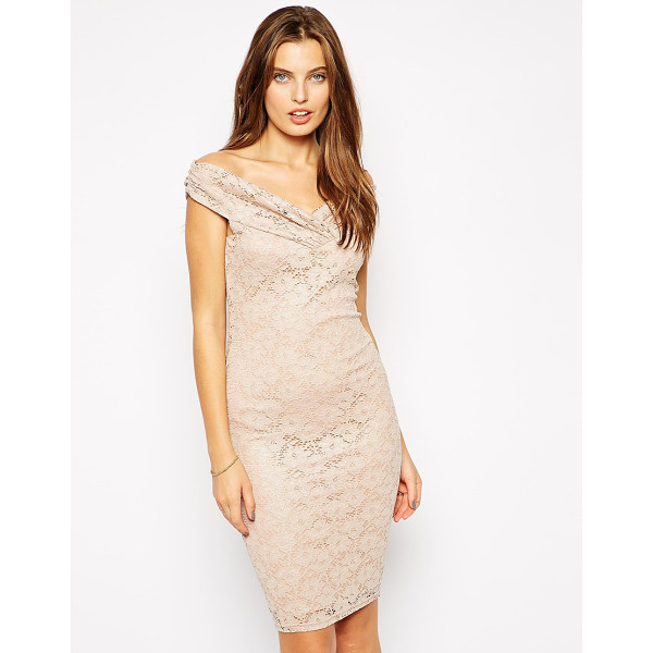 JESSICA WRIGHT Olivia off shoulder dress in glitter lace - Evening dress by Jessica Wright 92% Nylon, 8% Elastane...