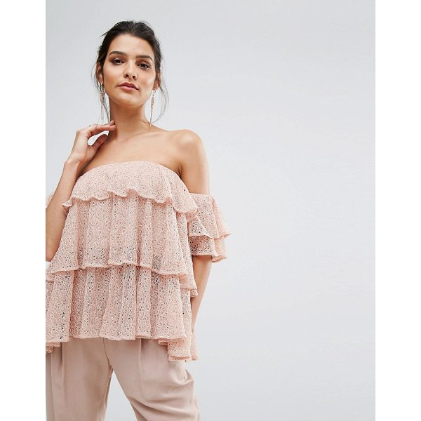 """KEEPSAKE Wide Awake Off Shoulder Frill Top - """"""""Top by Keepsake, Sheer lace, Partially lined design,..."""