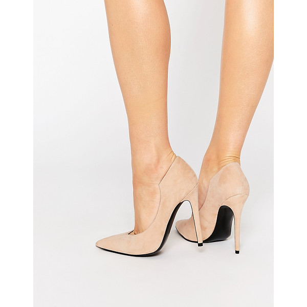 KENDALL + KYLIE Kendall & Kylie Abi Suede Nude Court Pointed Pumps - Heels by Kendall Kylie, Suede upper, Cut-out design,...