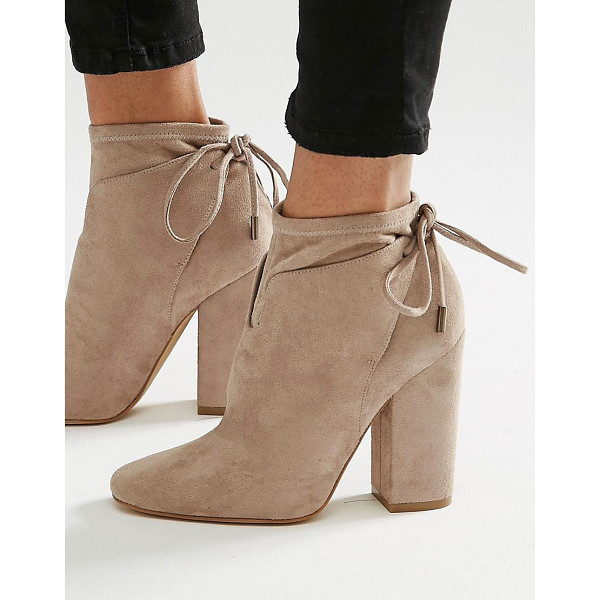 KENDALL + KYLIE Corset Tie Back Ankle Boot - Boots by Kendall Kylie, Faux suede upper, Lace-up cuff