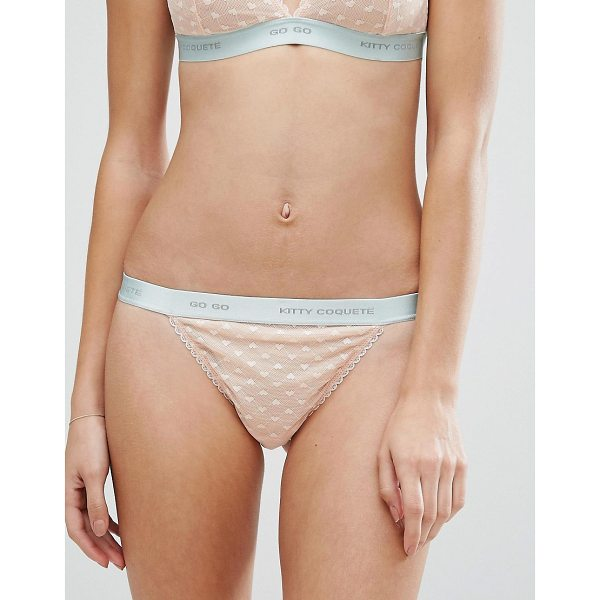KITTY COQUETE By Mimi Holliday Go Go Thong - Thong by Kitty Coquet, Stretch fabric, Low-rise waist with...