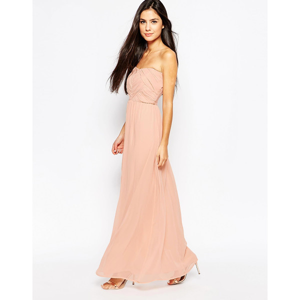 LASHES OF LONDON Bandeau dress in chiffon - Evening dress by Lashes of London Lined chiffon Bandeau...