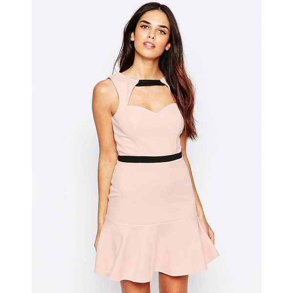 LASHES OF LONDON Lashes Of London Pephem Dress With Cut Out Front - Dress by Lashes of London, Soft-touch lightweight fabric,...