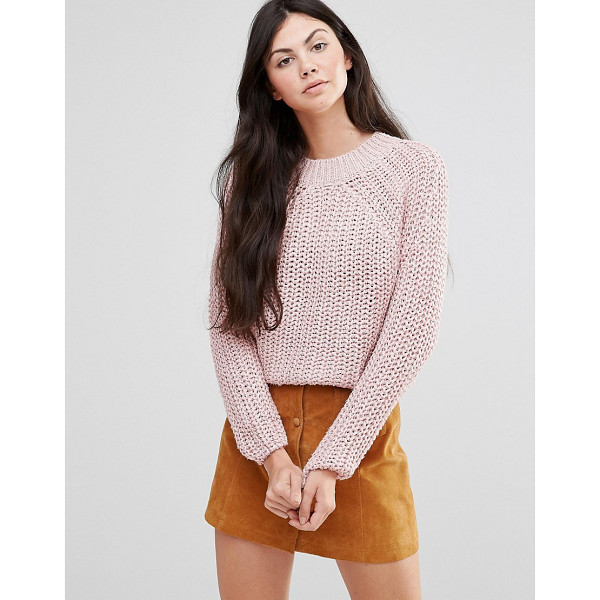 LAVAND Pink Cable Knit Sweater - Sweater by Lavand, Chunky knit, Round neckline, Long...