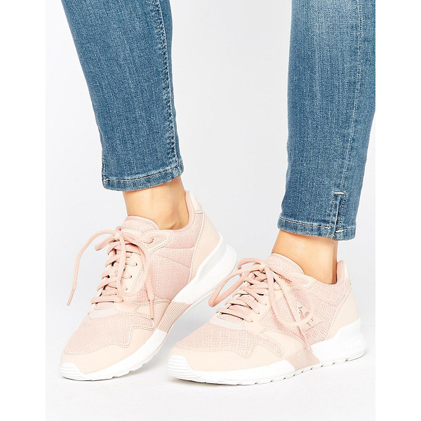 LE COQ SPORTIF Pink Omega Sneakers - Sneakers by Le Coq Sportif, Breathable mesh upper, Textile...