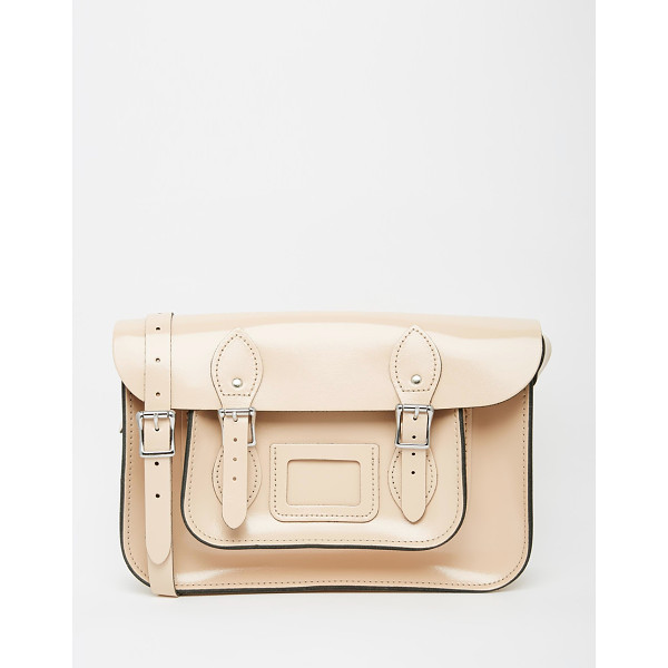 LEATHER SATCHEL COMPANY The  12.5 satchel - Cart by The Leather Satchel Co. Smooth leather Contrast...