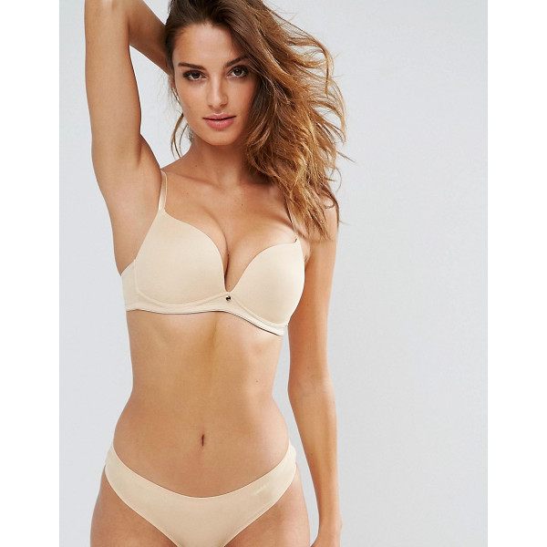 LEPEL Lexi Non Wired Soft Beige Bra B-DD Cup - Bra by Lepel, Smooth seamless fabric, Moulded cups, Charm...