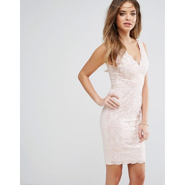 "LIPSY Embroided Bodycon Dress - """"Dress by Lipsy, Lightweight woven fabric, Embroidered..."