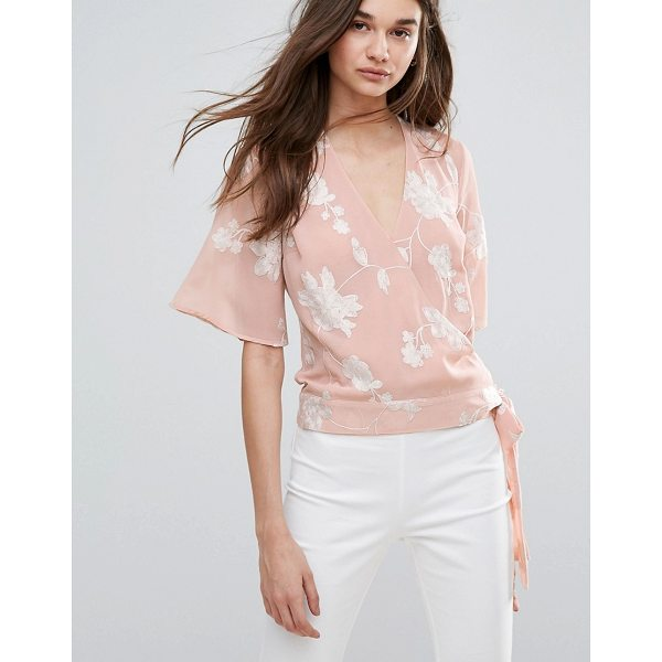 """LIPSY Embroided Wrap Front Blouse - """"""""Blouse by Lipsy, Lightweight woven fabric, V-neck, Wrap..."""