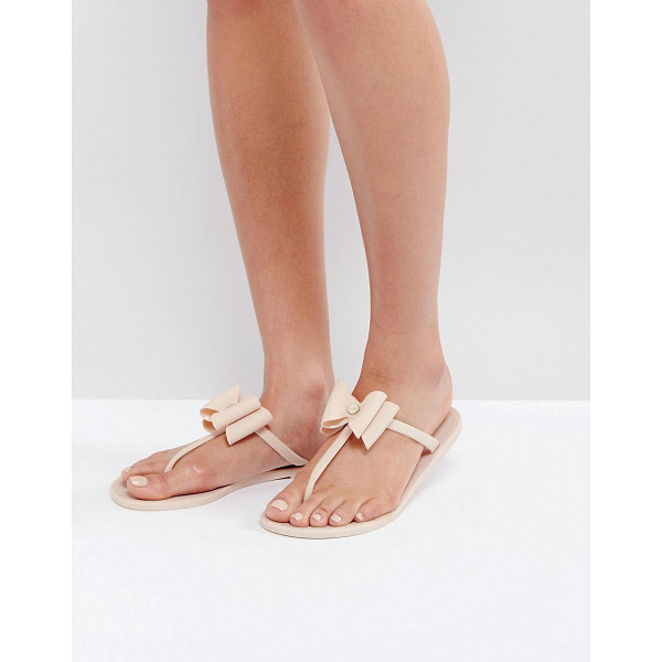 LIPSY Jelly Sandals With Bow Detail - Sandals by Lipsy, Jelly style upper, Slip-on style, Toe...