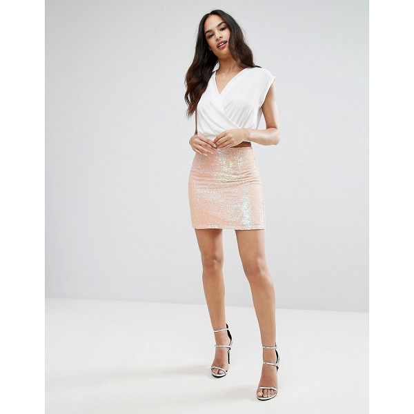 "LIPSY Mini Skirt In Sequin - """"Mini skirt by Lipsy, Sequin embellished fabric, High-rise..."