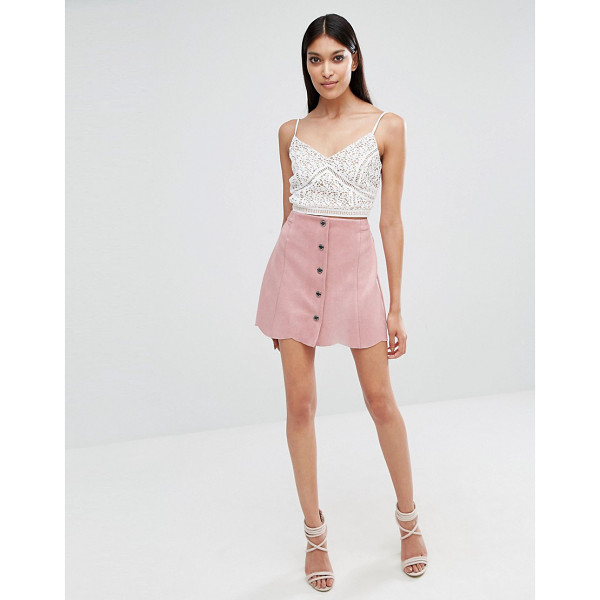LIPSY Pink Mini Suedette Skirt - Mini skirt by Lipsy, Lightweight faux suede,...