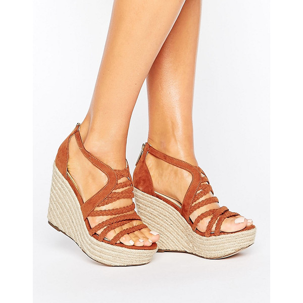 """LIPSY Strappy Braid Wedge Sandal - """"""""Wedges by Lipsy, Faux-suede upper, Zip-back fastening,..."""
