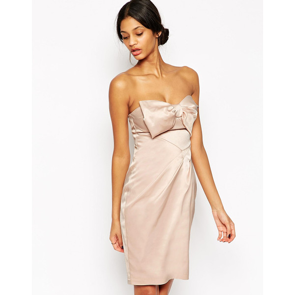 "LIPSY VIP Bandeau Pencil Dress With Bow - """"Pencil dress by Lipsy, Smooth fabric, Silky-feel lining,..."