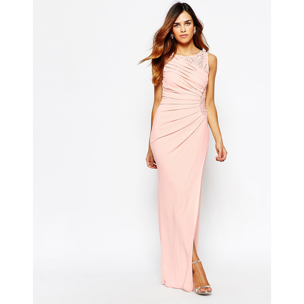 LIPSY VIP Embellished maxi dress with ruched detail - Maxi dress by Lipsy Lined woven fabric Round neckline...