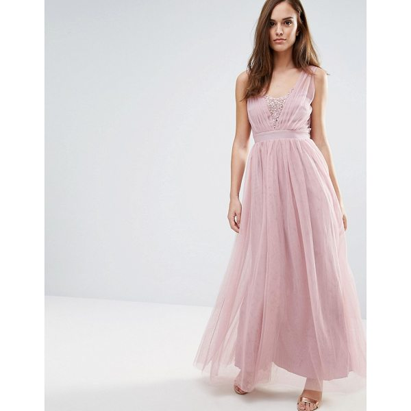 "LITTLE MISTRESS Jewel Bust Maxi Dress - """"Maxi dress by Little Mistress, Lightweight mesh, Fully..."