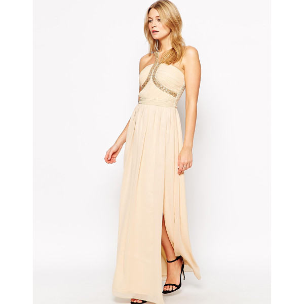 LITTLE MISTRESS Maxi dress with woven strap detail - Maxi dress by Little Mistress Lined, woven fabric Bandeau...