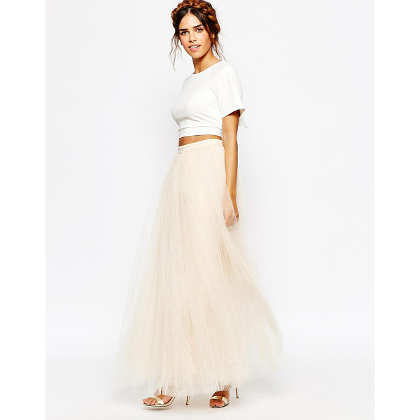 "LITTLE MISTRESS Maxi Tulle Skirt - """"Maxi skirt by Little Mistress, Lined tulle, Fitted high..."