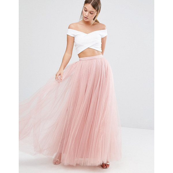 LITTLE MISTRESS Tulle Maxi Skirt - Maxi skirt by Little Mistress, Lined tulle, High-rise...