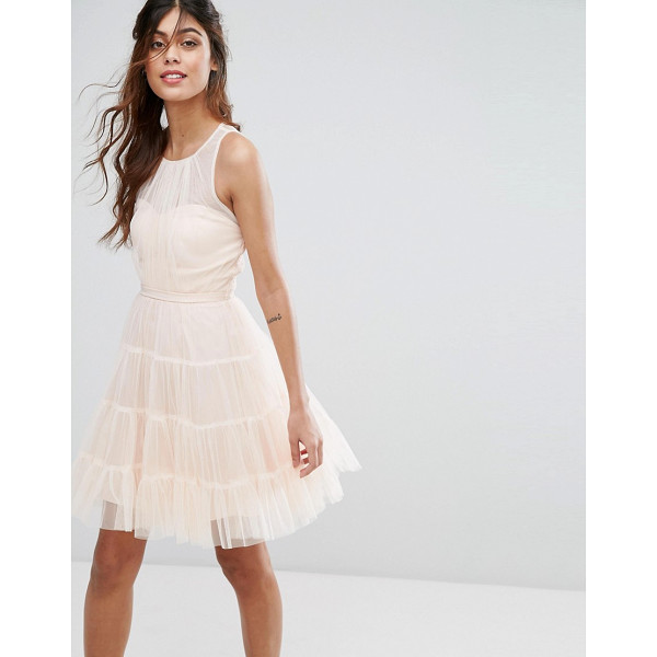 "LITTLE MISTRESS Tulle Mini Dress in Tiers - """"Dress by Little Mistress, Lined tulle, Round neck,..."