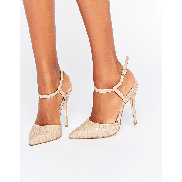 "LONDON REBEL 2 Part Pumps - """"Shoes by {BrandLink}, Faux-leather upper, Snakeskin..."