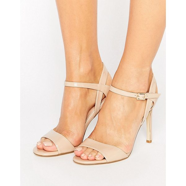 LONDON REBEL Barely There Heeled Sandal - Shoes by London Rebel, Faux-leather upper, Patent finish,...