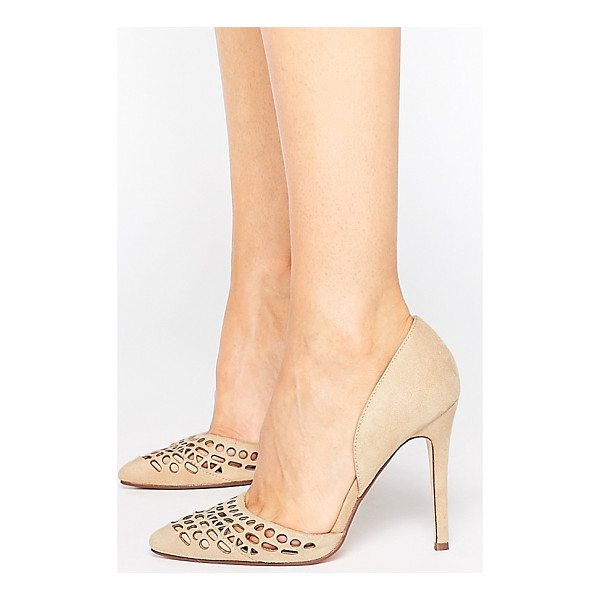 LONDON REBEL Cut Out Pumps - Shoes by London Rebel, Suede-look upper, Slip-on style,...