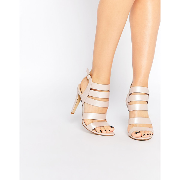 LONDON REBEL Strappy heeled sandals - Shoes by London Rebel, Leather-look fabric, Strappy design,...