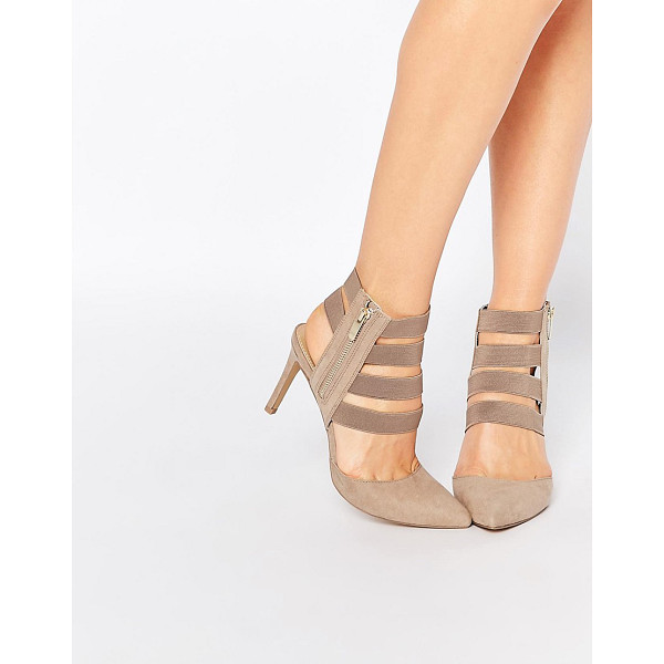 LONDON REBEL Strappy heeled shoes - Shoes by London Rebel, Suede-look upper, Elastic strap...