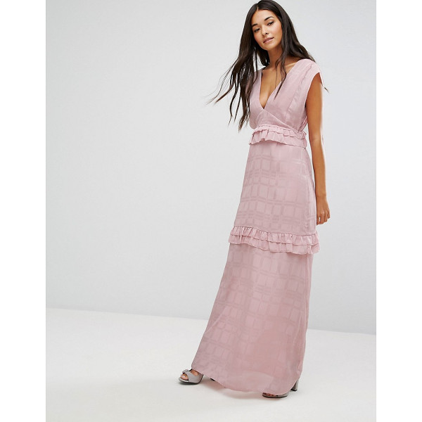 """LOST INK Maxi Dress With Frills - """"""""Maxi dress by Lost Ink, Textured woven fabric,..."""