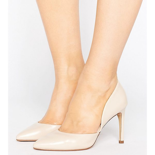 """LOST INK WIDE FIT Cut Out Nude Pumps - """"""""Heels by Lost Ink. Wide Fit, Faux-leather upper, Part..."""