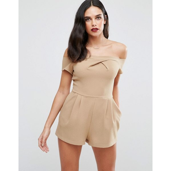 LOVE Cold Shoulder Romper - Play suit by Love, Woven fabric, Off-shoulder design, Pleat...