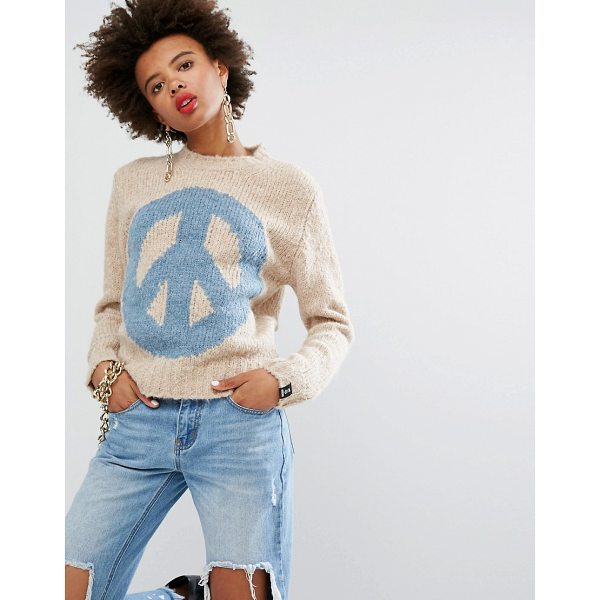 "LOVE MOSCHINO Peace Cashmere Wool Mix Sweater - """"Sweater by Love Moschino, Soft-touch wool-mix knit,..."