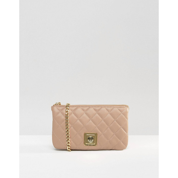 LOVE MOSCHINO Quilted clutch bag - Cart by Love Moschino, Quilted faux-leather outer, Branded...