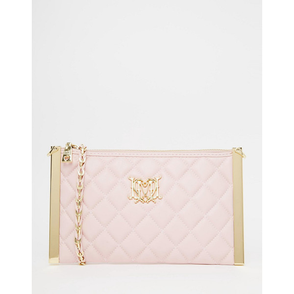 LOVE MOSCHINO Quilted cross body bag - Cart by Love Moschino, Quilted faux leather, Zip top...